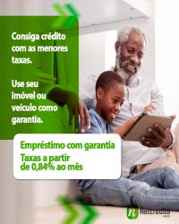 Consiga créditos com menores taxas. Use seu imóvel ou veículo como garantia. Taxas a partir de 0,84%