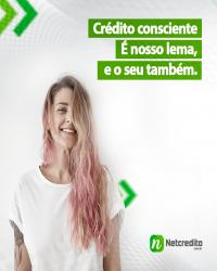 Crédito consciente. É o nosso lema, e o seu também.